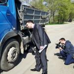 Vážení kamionů u Rakvic